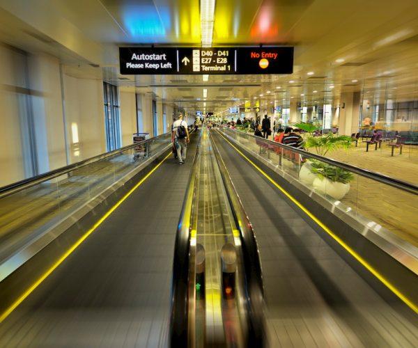 Moving walkways, Singapore's Changi International Airport